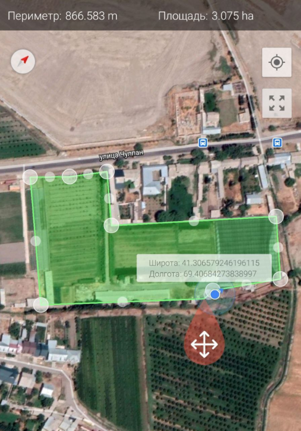 Земельный участок 3 га. Кибрайский р-н